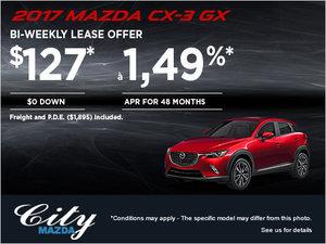 Drive home the 2017 Mazda CX-3 GX!