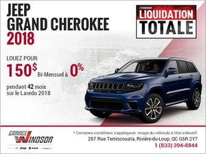 Le Jeep Grand Cherokee 2018 à bas prix