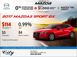 Drive Home the 2017 Mazda3 Sport GX Now!