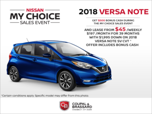 Lease the 2018 Nissan Versa Note!