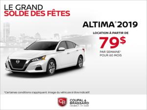 Obtenez le Nissan Altima 2019 dès aujourd'hui!