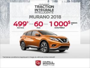Obtenez le Nissan Murano 2018 dès aujourd'hui!