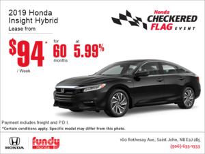 Lease the 2019 Honda Insight!