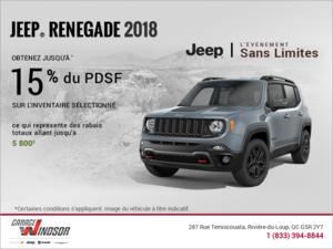 Conduisez un Jeep Renegade 2018