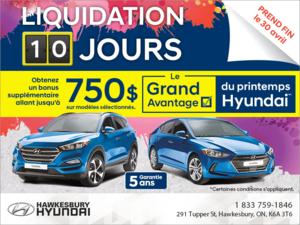 L'Événement Liquidation de 10 Jours Hyundai!