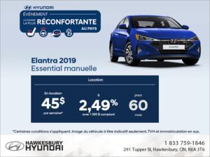 Louez l'Elantra 2019!