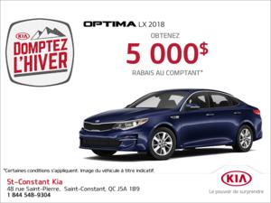 Obtenez la Kia Optima 2018!