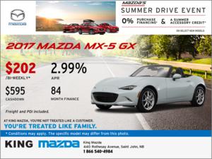 Get an All-New 2017 Mazda MX-5 GX