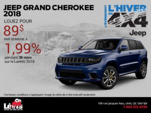 Obtenez le Jeep Grand Cherokee 2018!