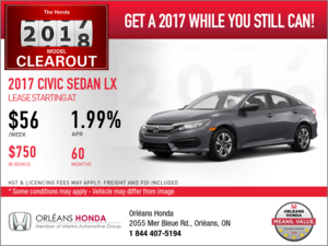 Save on the 2017 Honda Civic Today!