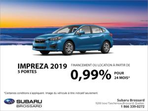 Procurez-vous la Subaru Impreza 2019 5 portes!