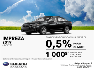 Procurez-vous la Subaru Impreza 2019 4 portes!