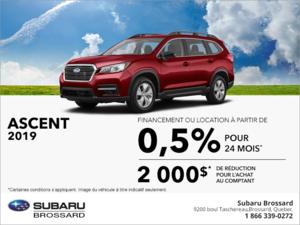 Procurez-vous le Subaru Ascent 2019!