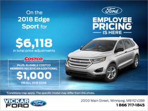 Save on the 2018 Ford Edge!