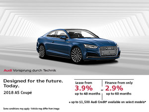 Get the All-New 2018 Audi A5 Coupé