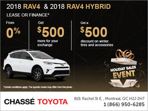 Chassé Toyota's Holiday Sales Event