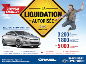 La Hyundai Elantra Sport 2016: jusqu'à 5000$ d'économies totales