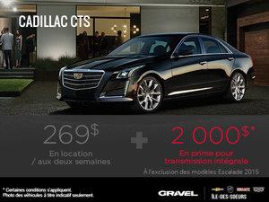 Retrouvez la Cadillac CTS 2015 en location à 269$/ 2 semaines