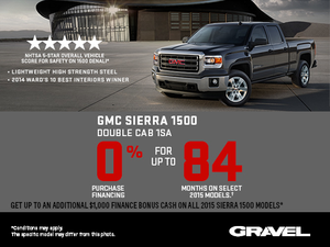 The 2015 GMC Sierra 1500 : 0% purchase financing