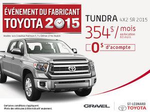 Louez un Toyota Tundra SR 2015 à 0$ d'acompte