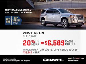 Get the 2015 GMC Terrain SLE-2 AWD now!