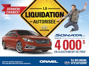 La Hyundai Sonata 2015: recevez jusqu'à 4000$ en ajustement de prix