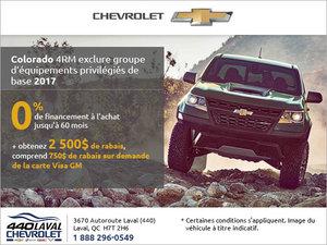 Le Chevrolet Colorado 2017 en rabais!