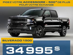 Silverado 2018 à partir de seulement 34995$ à l'achat comptant