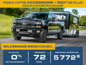 Silverado 2500HD 2018, 0% PENDANT 72 MOIS