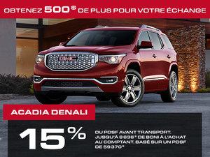 Promotion Juillet GMC Acadia 2018