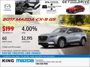 The 2017 Mazda CX-9 GS: Get it Today!