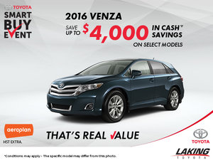 Get the All-New 2016 Toyota Venza Today!