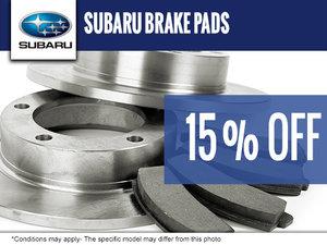 15% off on Subaru Brake Pads