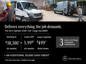 Lease a Mercedes-Benz Sprinter from $499 monthly
