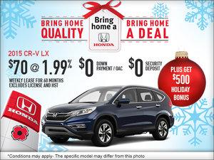 Lease the 2015 Honda CR-V today!
