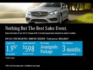 Get the 2016 Mercedes-Benz E250 BLUETEC 4MATIC Today!