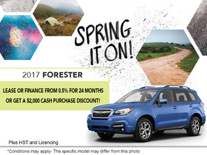 Lease the 2017 Subaru Forester