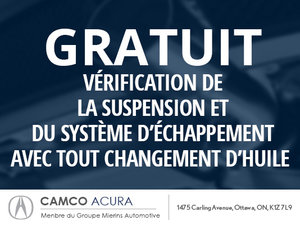 Vérification de la suspension et du sytème d'échappement gratuite!