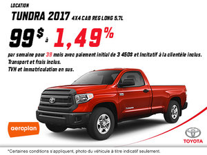 Obtenez la Toyota Tundra 4X4 SR 2017!