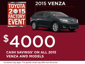 Save on the all-new 2015 Toyota Venza!