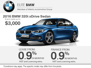Get the 2016 BMW 320i xDrive Today!