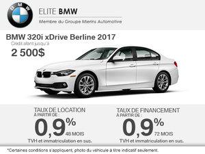 Obtenez le BMW 320i xDrive Berline 2017 aujourd'hui!