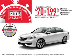 Save on a 2016 Honda Accord Today!