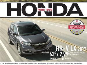 Économisez sur la Honda HR-V 2017 dès aujourd'hui!