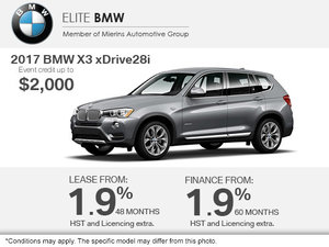 Get the 2017 BMW X3 xDrive28i Today!
