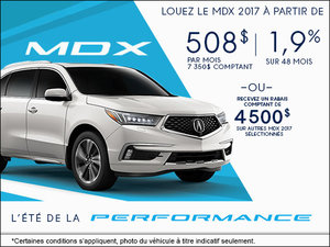 Acura MDX 2017 à Camco Acura!