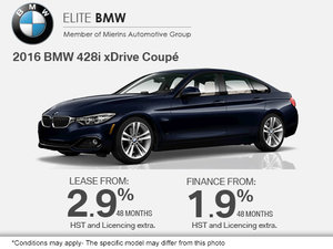 Get the 2016 BMW 428i xDrive Coupe Today!