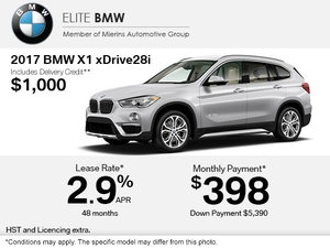 Get the 2017 BMW X1 xDrive28i Today!