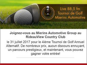 4ième Tournoi de golf annuel alternatif