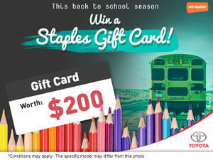Win a Staples Gift Card